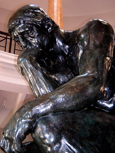 the thinker from rodin from flickr
